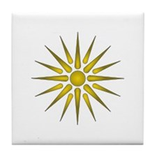Macedonia Vergina Star Tile Coaster