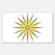 Macedonia Vergina Star Decal