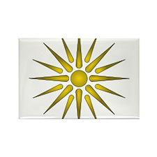 Macedonia Vergina Star Rectangle Magnet