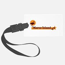 Marco Island - Beach Design. Luggage Tag