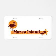Marco Island - Beach Design. Aluminum License Plat