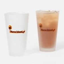 Marco Island - Beach Design. Drinking Glass