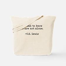 CS Lewis Not Alone Tote Bag