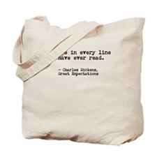 Charles Dickens: Every Line Tote Bag