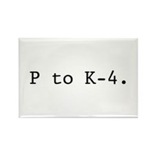 Twin Peaks P to K-4. Rectangle Magnet (100 pack)