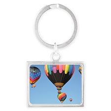Hot Air Balloon Landscape Keychain