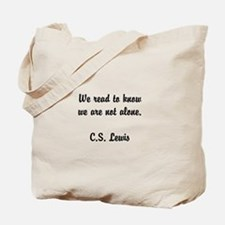 CS Lewis Not Alone (2) Tote Bag