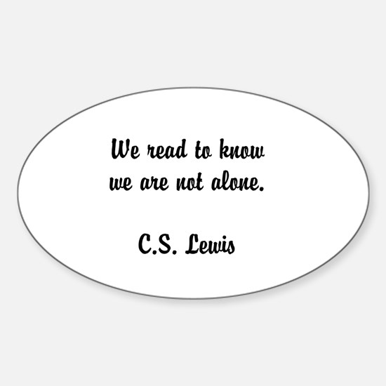 CS Lewis Not Alone (2) Decal