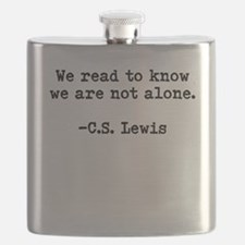 CS Lewis Not Alone Flask