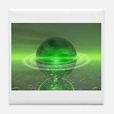Electronic Green Saturn Tile Coaster