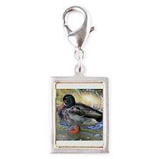 Mallard Duck Silver Portrait Charm
