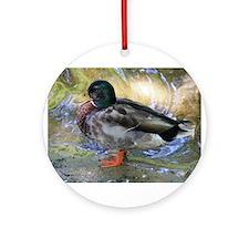 Mallard Duck Ornament (Round)