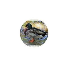 Mallard Duck Mini Button