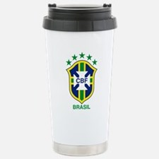 Unique Brazil soccer Travel Mug