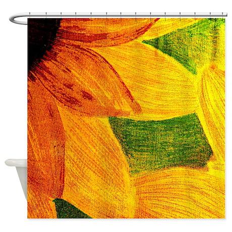 Abstract Sunflower Shower Curtain