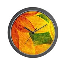 Abstract Sunflower Wall Clock