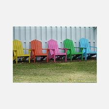 Beach / Adirondack Chairs Rectangle Magnet