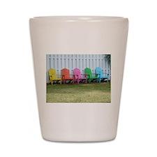 Beach / Adirondack Chairs Shot Glass