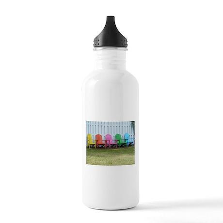 Beach / Adirondack Chairs Stainless Water Bottle 1