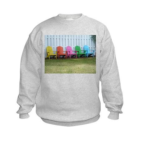Beach / Adirondack Chairs Kids Sweatshirt