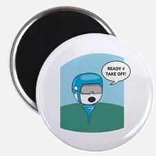 """Golfball Ready For Take Off 2.25"""" Magnet (100 pack"""