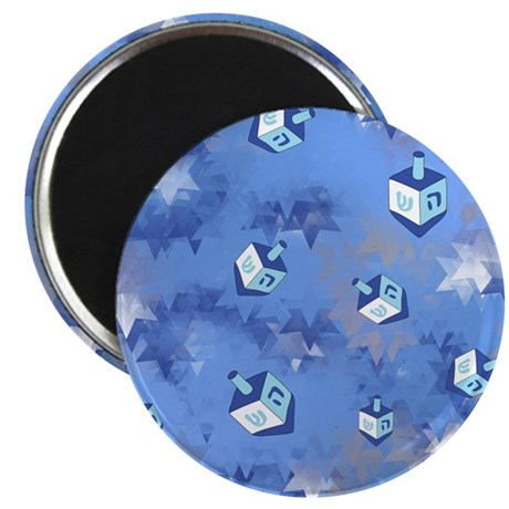 "Judaica Driedels and Stars 2.25"" Magnet (10 pack)"