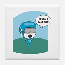 Golfball Ready For Take Off Tile Coaster
