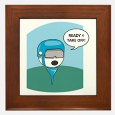 Golfball Ready For Take Off Framed Tile