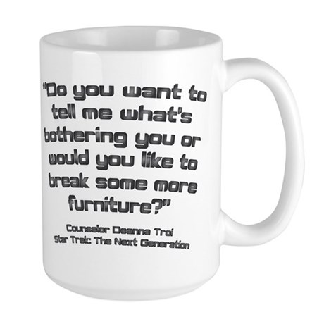 Troi Quote Break Furniture Large Mug