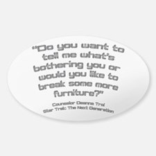 Troi Quote Break Furniture Sticker (Oval)