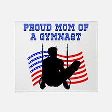 PROUD GYMNAST MOM Throw Blanket