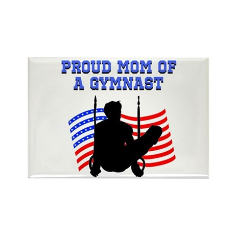 PROUD GYMNAST MOM Rectangle Magnet (10 pack)