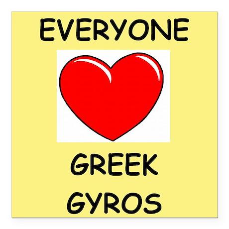 "GYROS Square Car Magnet 3"" x 3"""