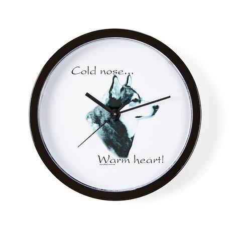 Malamute Warm Heart Wall Clock