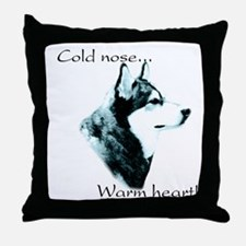 Malamute Warm Heart Throw Pillow