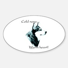 Malamute Warm Heart Oval Decal