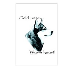 Malamute Warm Heart Postcards (Package of 8)