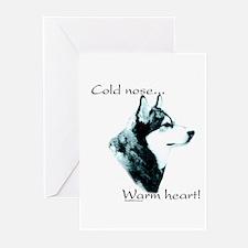 Malamute Warm Heart Greeting Cards (Pk of 10)