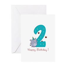 Second Birthday Greeting Card