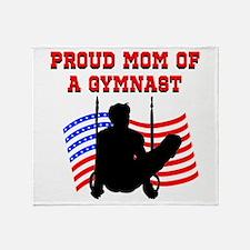 SUPER GYMNAST MOM Throw Blanket