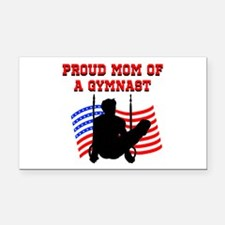 SUPER GYMNAST MOM Rectangle Car Magnet