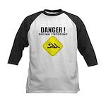 Danger! Drunk Crossing Kids Baseball Jersey