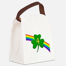 Rainbow Shamrock 4 Canvas Lunch Bag