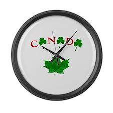 Canadian Irish Large Wall Clock