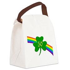 Rainbow Shamrock 50 Canvas Lunch Bag