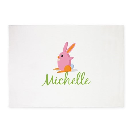 Easter Bunny Michelle 5'x7'Area Rug