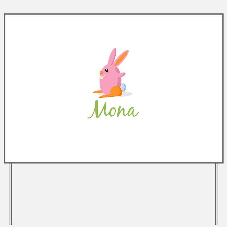 Easter Bunny Mona Yard Sign