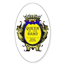 Drum Major: Queen of the Band Oval Decal