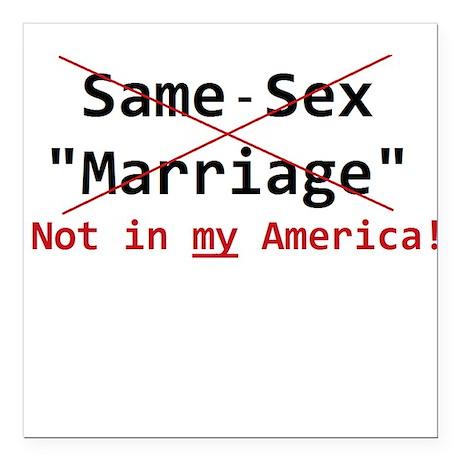 "Same-Sex Marriage Square Car Magnet 3"" x 3"""