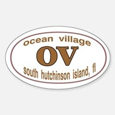 OV oval sticker Decal